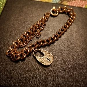 MK lock charm bracelet